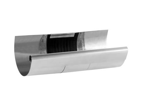Zambelli 6-teilige Rinnendila halbrund 0,60 mm 26 cm einseitig vulkanisiert Titanzink