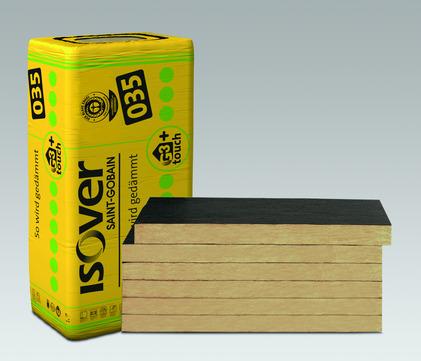 SAINT-GOBAIN ISOVER Kontur FSP1 80mm Fassadendämmplatte 1250x600mm 4,50m2 im Paket WLS 035
