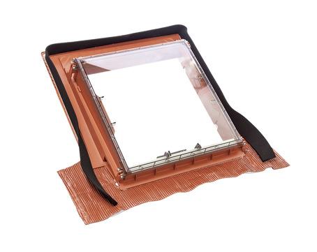 Braas Dachfenster Lichtkuppel universal Luminex Ausstieg 475x520 mm Anthrazit